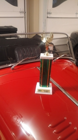 My 65 Plus 4 Four Seater won a trophy